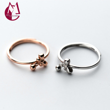 NEW 925 Sterling Silver Rings For Women Original Design Bowknot Joint Ring With Stone Female Wedding Ring Fashion Jewelry J3350(China)