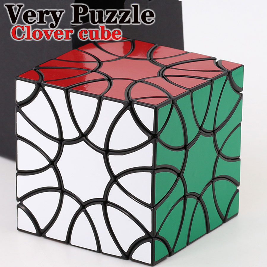 Magic cube puzzle VeryPuzzle Clover cube cloverleaf structure trefoil master collection must strange shape romantic logic gift Z