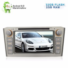 "7"" HD 1024x600 Pure Android Autoradio For Toyota Avensis 2003 2004 2005 2006 2007 DVD GPS Navigation Stereo 2GB RAM 32GB Flash"