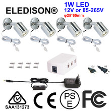 12V DC LED Wall Light 1W with LED Driver 85-265V On Off Switch Showroom Lighting Flexible Angles Reading Light Night Mood Bulb(China)