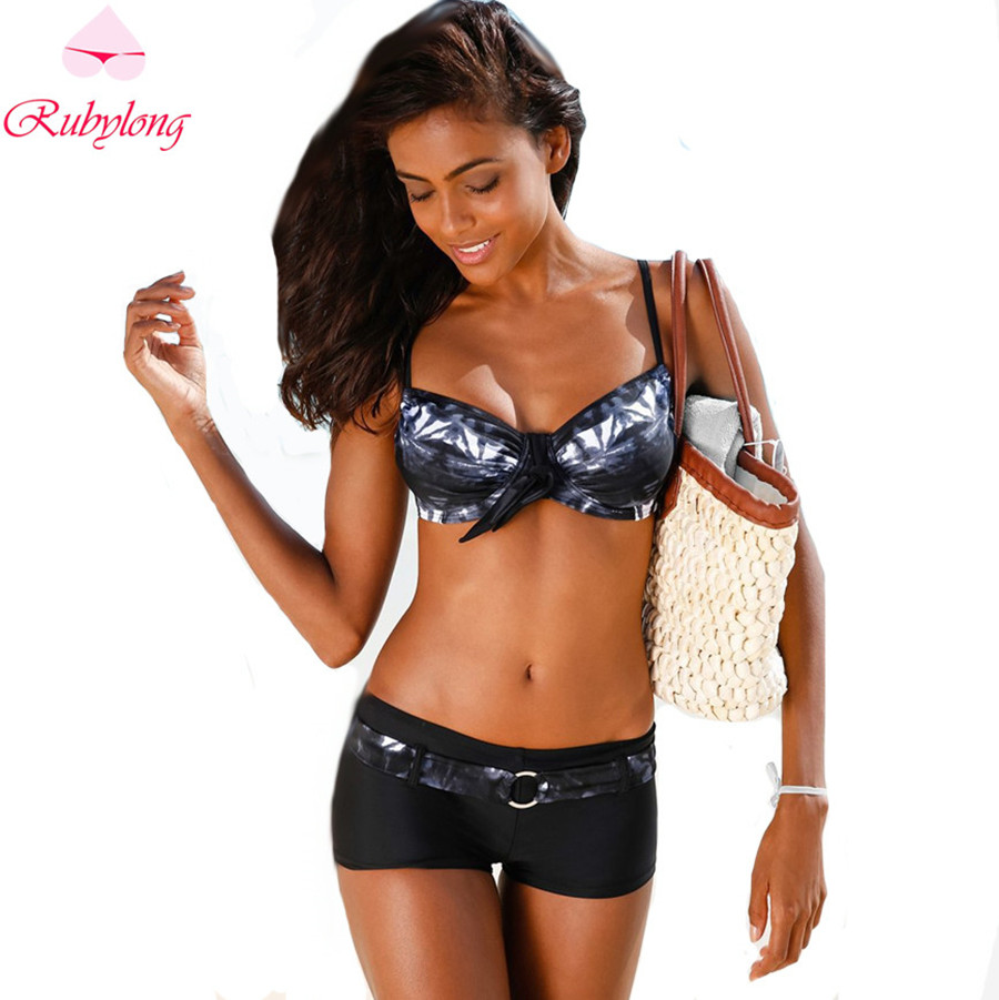 Women Vintage Sports Bikini Swimwear Ladies Retro Push Up Padded Bikini Sets Swimsuit Bathing Suits Maillot De Bain Beachwear<br><br>Aliexpress