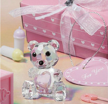 60pcs Teddy crystal  bear  for Wedding Favors Gifts and Baby Shower souvenirs + DHL Free Shipping