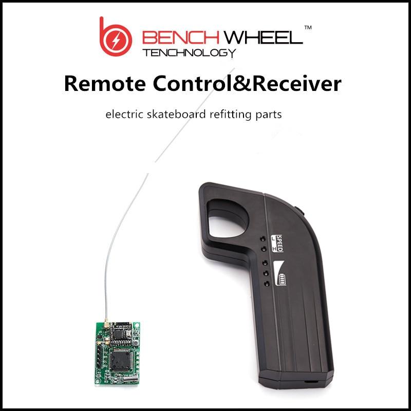Electric skateboard refitting parts   DIY 800MAH  remote  &amp; receiver  2.4G bench technology  benchwheel <br><br>Aliexpress