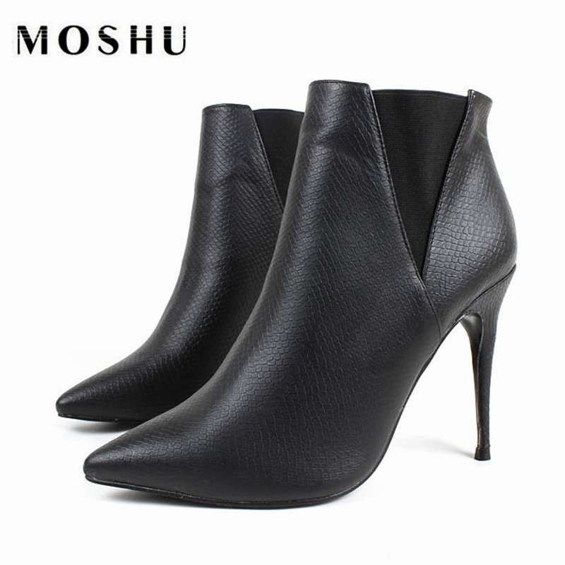 High Heel Women Fashion Boots Ladies Shoes Platform Fashion Boots leather boots Buckle Martin Girls Ankle Boots Female <br><br>Aliexpress