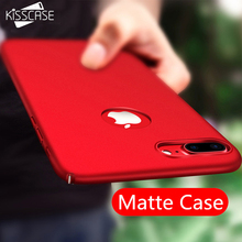 KISSCASE Hard Plastic Matte Cases For iPhone 7 6 6s Plus 5s 5se Ultra Thin Luxury Phone Case For iPhone 6 6s Cover Coque(China)