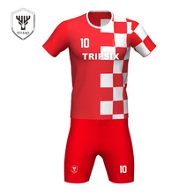 custom mens mesh plain red white color national team usa soccer jersey(China)