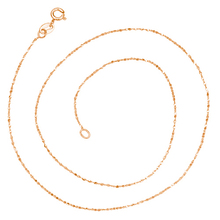 1PC Findings 40+5cm Necklace Chains Fine Jewelry Width 1.0MM Plated Gold Chain Rose Gold Color N567(China)
