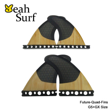 High Quality Future Surfboard Fins FCS Black Honeycomb/Bamboo G5+GX Quad Fin FCS/Future Quilhas