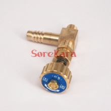 Elbow Brass Needle Valve with spring M10x1mm Metric Thread to 10mm I/D hose barb Max Pressure 0.8 Mpa for gas