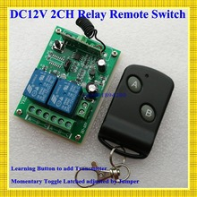 315/433MHZ 12V 2CH Radio Frequency  wireless remote control switch system receiver board & transmitter remote controller 100Unit