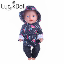Free shipping, 2 colors handmade casual clothes fit 43 cm Baby Born zapf, Children best Birthday Gift (Only clothes)