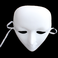Universal White Face Halloween Masquerade Party DIY Scary Mime Mask Ball Party Full Face Cosplay Costume Masks