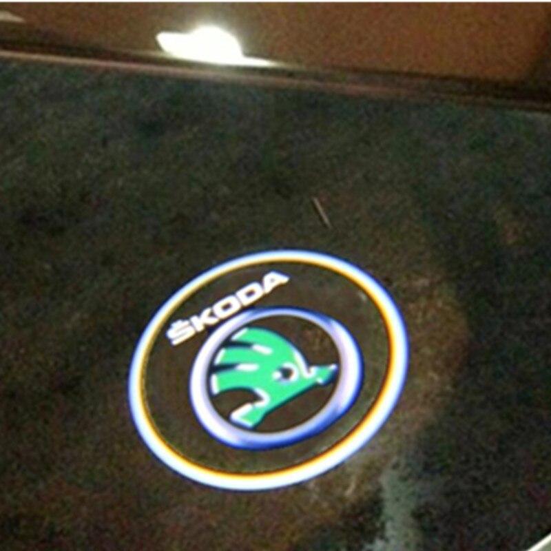 Car LED Door Warning Light Courtesy Laser Projector Logo Light For For SKODA Octavia 2004-2008<br><br>Aliexpress