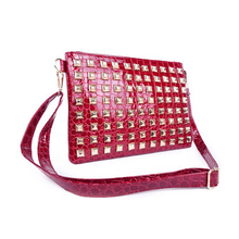 50pcs/lot New Fashion Women Lady Girl Shoulder Bag Pyramids Studs Envelope Bag Day Clutch