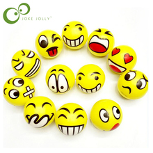 2Pc Emoji Face Squeeze PU Balls Modern Stress Ball Relax Emotional Hand Wrist Exercise Stress Toy Balls Toys for Children GYH