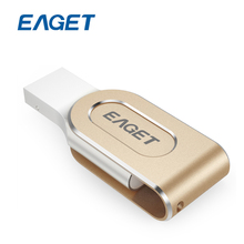 EAGET I80 For Lightning to USB 3.0 Flash Drives 100% 32GB Capacity Expansion For iPhone 7 6/iPad/iPod Pen Drive 32 gb For PC/MAC