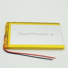 8573130 3.7V 10000mAh Lithium Polymer LiPo 3.7v 10ah Rechargeable Battery 2a For power bank pad dvd GPS PSP tablet pc laptop