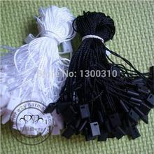 Free shiping High quality black and waite hang tag string hang tag strings cord for garment stringing price hangtag or seal tag