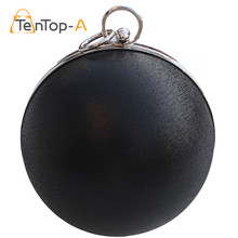 TenTop-A Candy Women Pearl Ball Evening Bags Earth Round Shaped Clutch Purse Clutches Chain Shoulder Handbags Gold Silver Black(China)