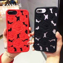 Kanyes Silicon Case For iPhone 6 6S 7 8 Plus X Case Anti-knock Red Rose Phone  Cover For iPhone X 8 7 6 6S Plus Covers Back Coque 0b8c8d95a119