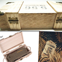 Tactical military metal storage lock wooden box   Jewelry Accessories Storage Container Magazine Pouch for 5.56