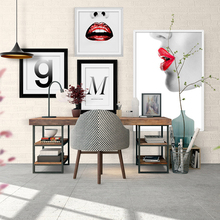 Modern Fashion Canvas Painting Woman Face Posters Prints Graphic Nordic Wall Art Pictures For Living Room Home Decor Unframed(China)