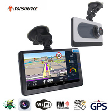 TOPSOURCE 7'' HD Car DVR GPS Navigation Android 16GB/512MB DVR Camera Recorder FM WIFI Sat nav Capacitive screen Navitel Map