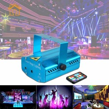2017 Mini Portable 110-240V Wonderful R&G Red Green Laser Projector Stage Light Night Club Lighting Home Party DJ Disco EU Plug(China)