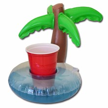 3pcs/lot Pool Float Water Inflatable Coconut Tree Drink Cup Transportor Swim Ring Holiday Water Fun Pool Beach Toys Juice holder