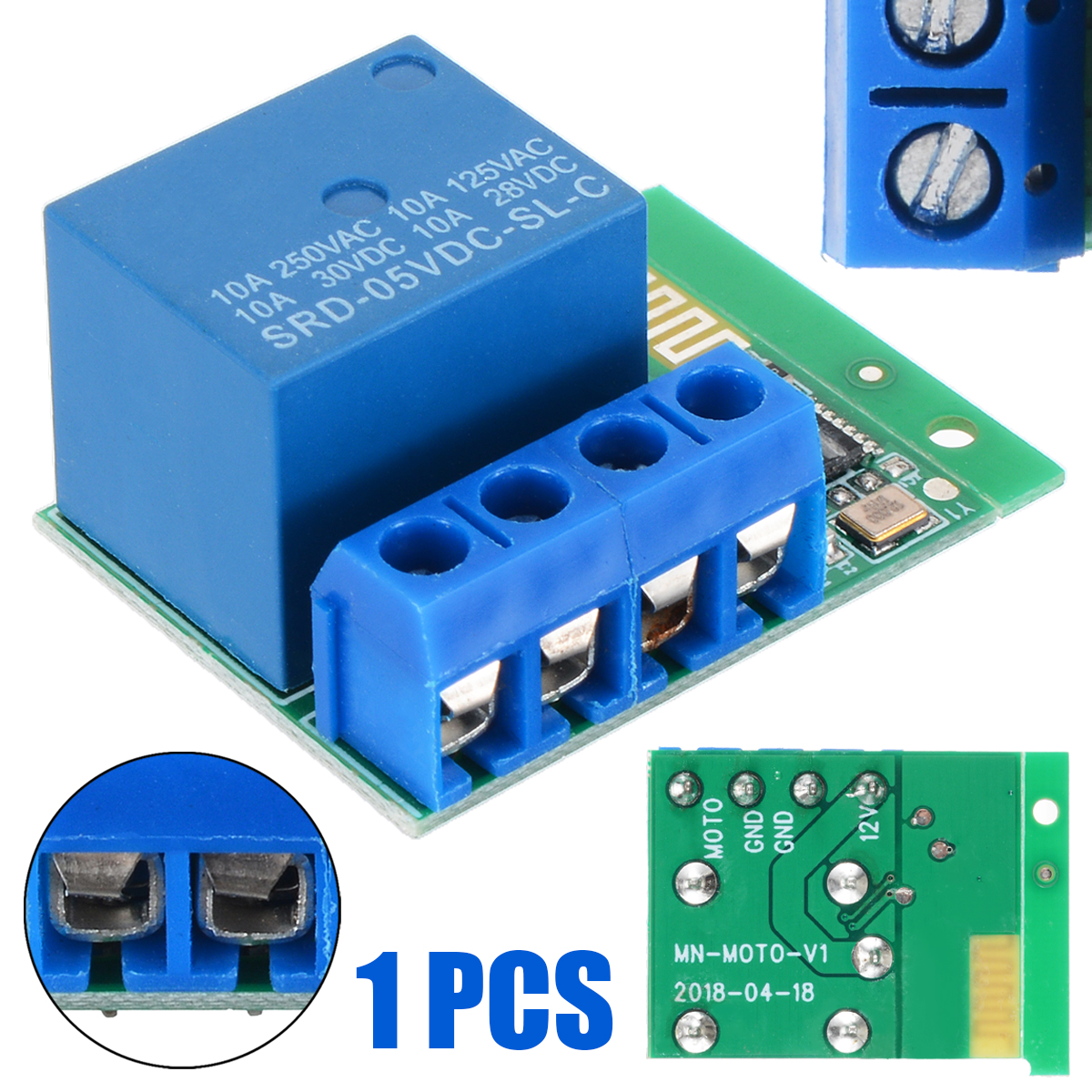 Bluetooth APP Control Relay Switch Module for Access Control Motor LED Light Electrical Equipments Supplies