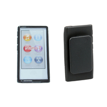 New Hybrid TPU Rubber Gel Soft Case Cover Holster With Clip For Apple iPod Nano 7 7th Generation 7 7G Belt Clip cases(China)