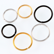 3Pcs/lot 20G Fashion Gold Silver Black Plated Fake Nose Ring Hoop Nose Stud Rings Body Piercing Jewelry For Women