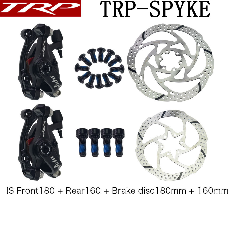 TRP Spyke MTB Bike Mechanical Front 160mm Disc Brake Caliper w// adapter Black