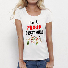 Fashion Women T Shirts One Direction 1D Punk T-shirt Print Director Female Vintage Ladies Clothing Girls Top Tees O Neck Cotton