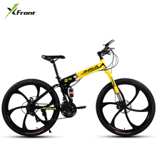 New brand 21/24/27 speed 26 inch carbon steel mountain bike outdoor downhill MTB bicicleta folding color disc brake bicycle