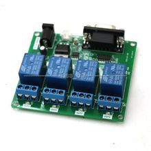 Tracking number DC 5V 12V 4-Channel RS232 Serial Control Relay Module Switch Board SCM PC SController