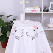 Fashion applique embroidered round table cloth tablecloth set one table cloth+8pcs napkins(China)