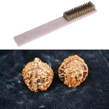 Buy Hand Copper Plating Metal Wire Brush Cleanning Tool Polishing Crafts Processing Wood Handle DIY Tool for $1.16 in AliExpress store