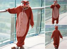 Reindeer Costume Onesies Red Nose Rudolph Cosplay Costumes Adults Cartoon Character Design Cosplay Costume