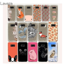 Lavaza 21FF Lovely animals The deer and foxes Hard Case for Samsung Galaxy S8 Plus S7 S6 Edge S5 S4 S3 S2 Mini Plus(China)