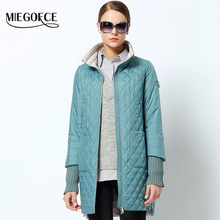2018 Women's Fashion Parkas coat Female Spring Jacket With Scarf Women's Coat Spring Autumn New Arrival Hot Sale MIEGOFCE(China)