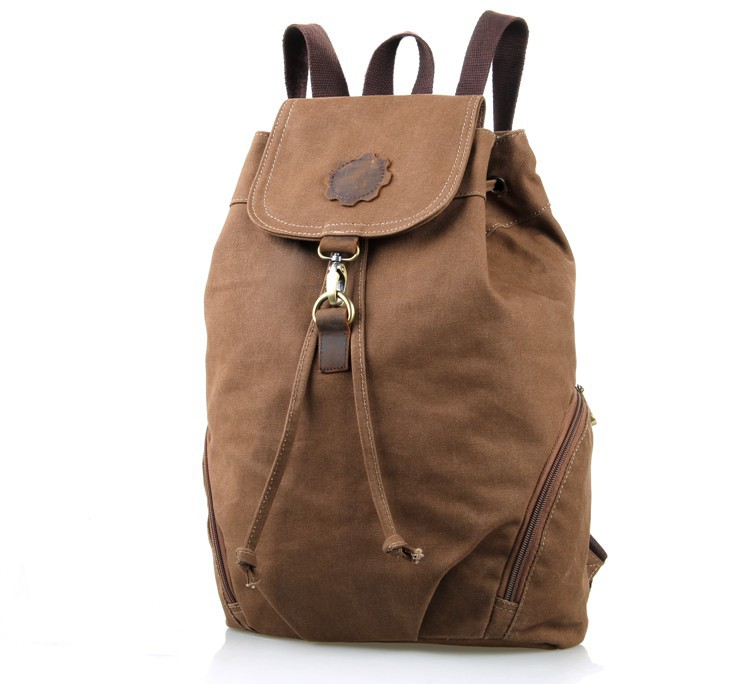 Newest Mini Canvas and Leather Travel Backpack Women Schoolbag 9008C-1<br>