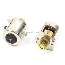 2PCS 10mm Dia 2 Phase 4 Wire Micro Stepper Motor 1000RPM for Camera