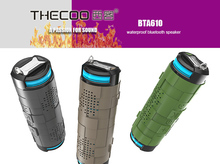 Thecoo BTA610 Bluetooth 4.0 Outdoor Cycling Card Waterproof Speaker Stereo Subwoofer Portable Speaker Free Shipping(China)