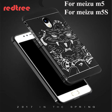 Meizu M5 case 5.2 inch cover china dragon Super Frosted Shield matte back cover for Meizu M5S original brand phone cases(China)