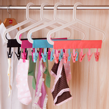 Multifunction Socks Drying Racks Bathroom Rack Traveling Clothespin Travel Portable Folding Cloth Hanger Clips ZQ876871