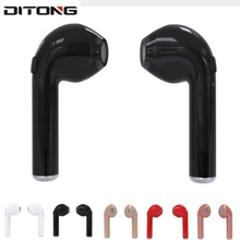 Ditong I7S TWS Headset Wireless Bluetooth Double Earphone Twins Earpieces Stereo Binaural Earphones For All mobile phones(China)