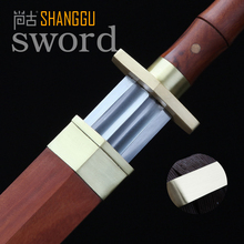 Copper Decoration Chinese Octahedral Chibi Damascus Steel Sword Movie Red Rosewood Sword Scabbard Performancesswords chinese(China)