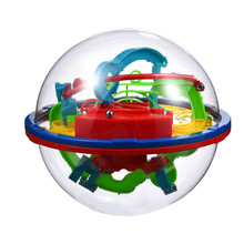 3D Magic Maze Ball 100 Levels Large 3D Intellectual UFO Maze Ball Early Childhood Educational Toys Rolling Ball Puzzle Game Toys