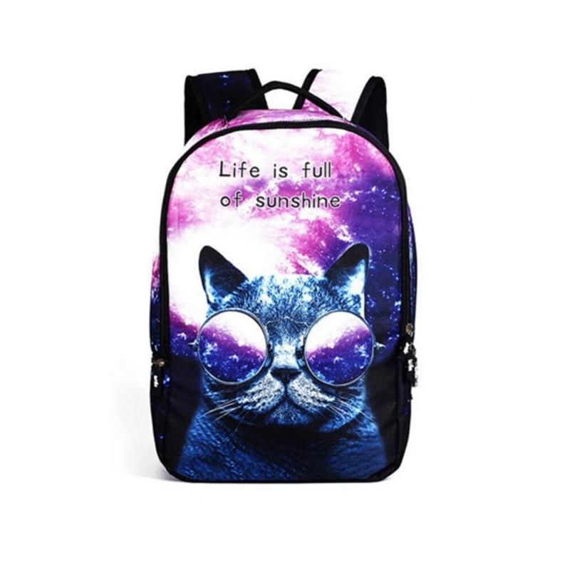 Galaxy Cat Backpack Space Backpacks Printing School Bags For Teenage Boys 2017 Panda Backpack Men Mochila Notebook Backpack Male<br><br>Aliexpress